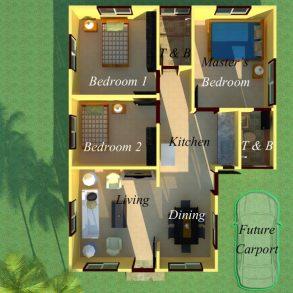 Rosas Model House and Lot at Villa Señorita Subdivision