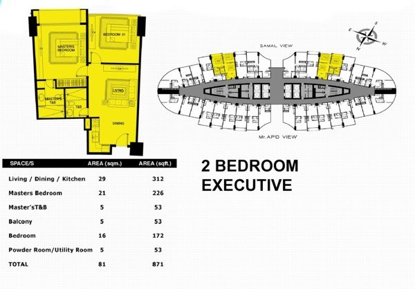 Aeon Towers Davao, Davao condominium, 2Bedroom executive