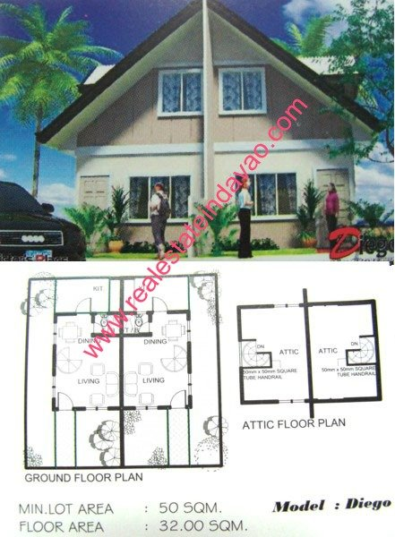Affordable Diego Model House at The Prestige Subdivision, Cabantian, Davao City