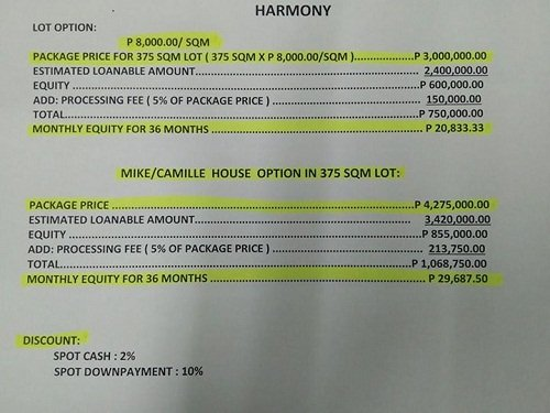 house and lot for sale at the harmony subdivision