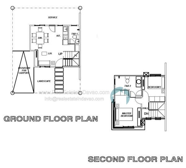 Uraya Residences Cluster 3 Model House Drew - Single Attached 2 Storey - Floor Plan