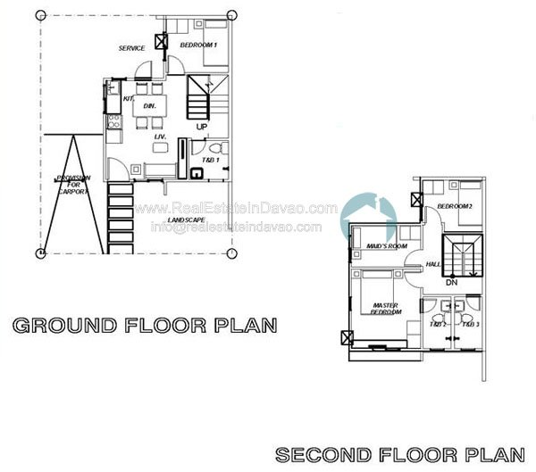 Uraya Residences Cluster 3 Model House Reagan - Single Attached - Floor Plan