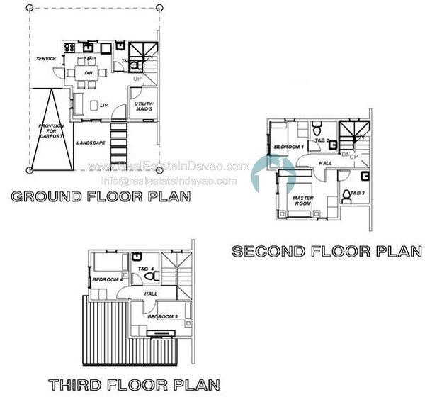 Uraya residences in catalunan grande skylar model house for Cluster house floor plan