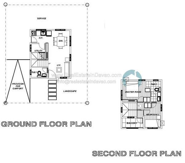 Uraya Residences Cluster 6 Model House Elena - Single Detached 2 Storey - Floor Plan