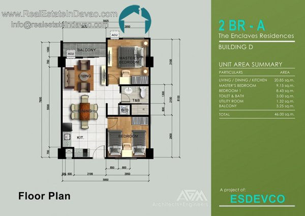2 Bedroom A unit at The Enclaves Residences Davao City, Matina Enclaves Condominium