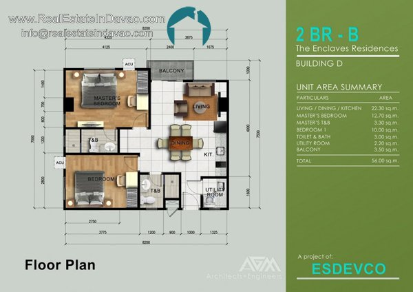 2 Bedroom B unit at The Enclaves Residences Davao City, Matina Enclaves Condominium