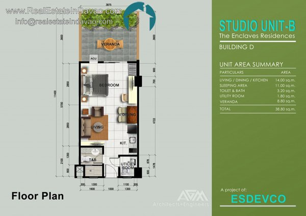 Studio Unit The Enclaves Residences, The Enclaves Condominium, Matina Enclaves Condominium Davao