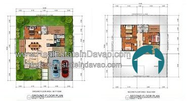 Davao House and Lot, Davao Subdivisions, House and Lot for Sale in Davao City, Mid-cost Housing in Davao City, Real Estate in Davao, Real Estate Property for Sale in Davao, Urban East Development Inc, The Gardens at South Ridge, Catigan Toril, High End Housing in Davao City, Real Estate in Davao, realestateindavao, Amaranta, Two Storey, 2 Storey, Floor Plan