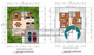 Davao House and Lot, Davao Subdivisions, House and Lot for Sale in Davao City, Mid-cost Housing in Davao City, Real Estate in Davao, Real Estate Property for Sale in Davao, Urban East Development Inc, The Gardens at South Ridge, Catigan Toril, High End Housing in Davao City, Real Estate in Davao, realestateindavao, Celandine, Two Storey, 2 Storey, Floor Plan