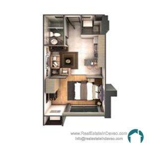 Davao City, Legacy Leisure Residences, Condominium, Maa Road, Mixed-use condominium, RealEstateInDavao, Real Estate In Davao City, 1 Bedroom H