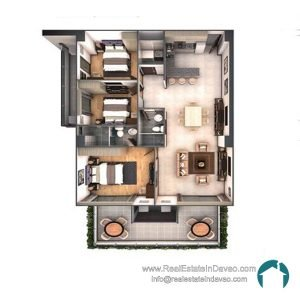 Davao City, Legacy Leisure Residences, Condominium, Maa Road, Mixed-use condominium, RealEstateInDavao, Real Estate In Davao City, 3 Bedroom