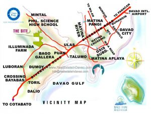 South Pacific Golf and Leisure Estates Davao Lots for Sale, Real Estate in Davao City, Davao Residential Lot for Sale, South Pacific Golf and Leisure Estates Vicinity Map