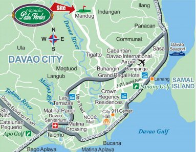 Rancho Palos Verdes Davao Lots Location Map