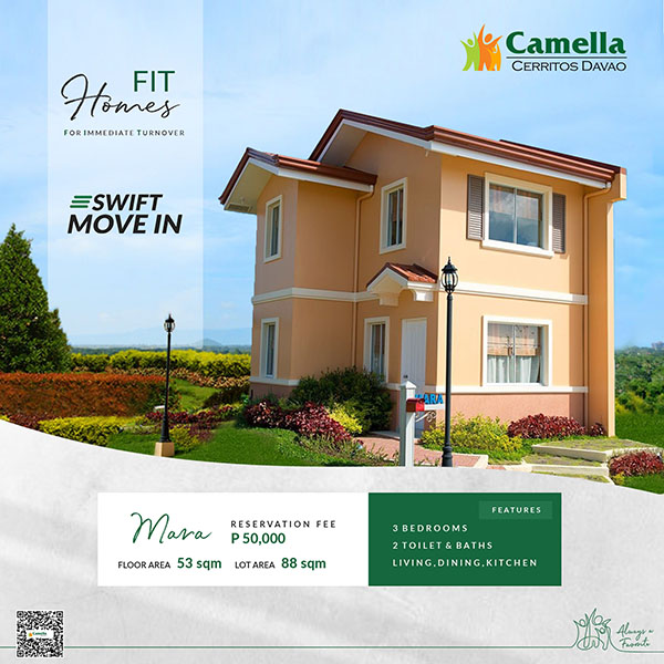 Camella Cerritos Mintal Ready for Occupancy House and Lot for Sale