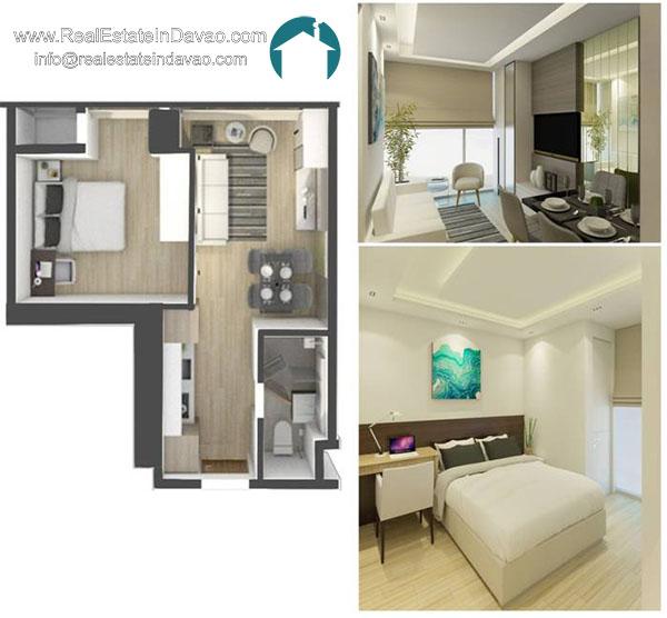 Aeon Bleu, Real Estate In Davao City, RealEstateindavao, Condominiums in Davao City, Residential Condominium, Real Estate Investment in Davao City, Davao Real Estate, Davao City Properties for Sale, 1 Bedroom Unit
