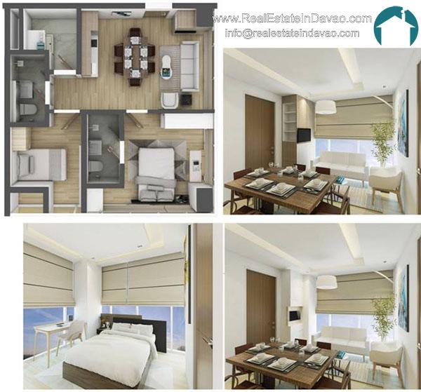 Aeon Bleu, Real Estate In Davao City, RealEstateindavao, Condominiums in Davao City, Residential Condominium, Real Estate Investment in Davao City, Davao Real Estate, Davao City Properties for Sale, 2 Bedroom Unit